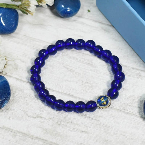 Blue Tiger's Eye 24 Bead Mala Band/Bracelet