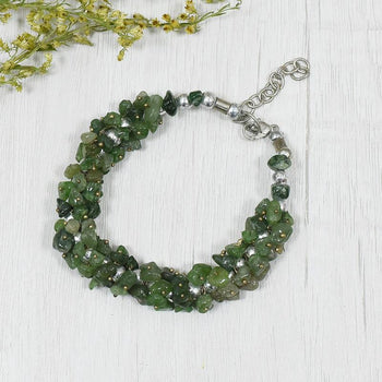Green Jade Natural Stone Bracelet | Good Luck, Friendship & Cleansing