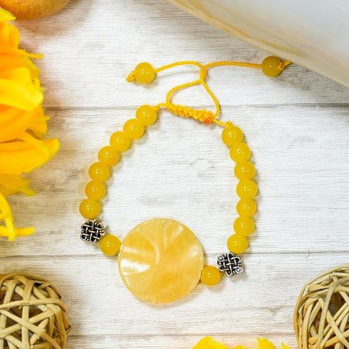 Citrine Crystal String Bracelet for Concentration
