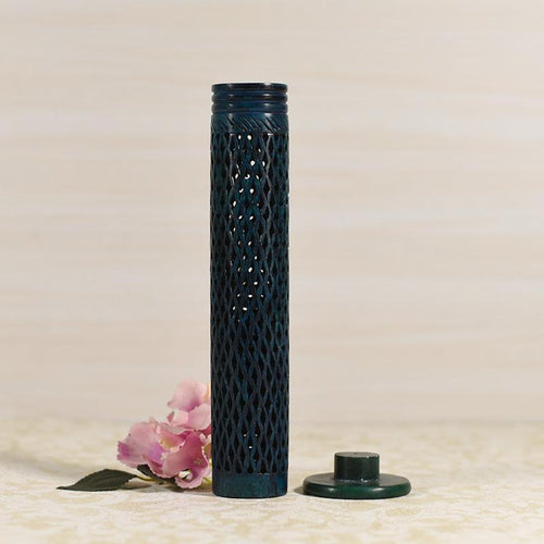 Handcrafted Latticework Marble Incense Stick Holder