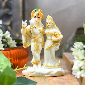 Beautiful Radha Krishna Figurine