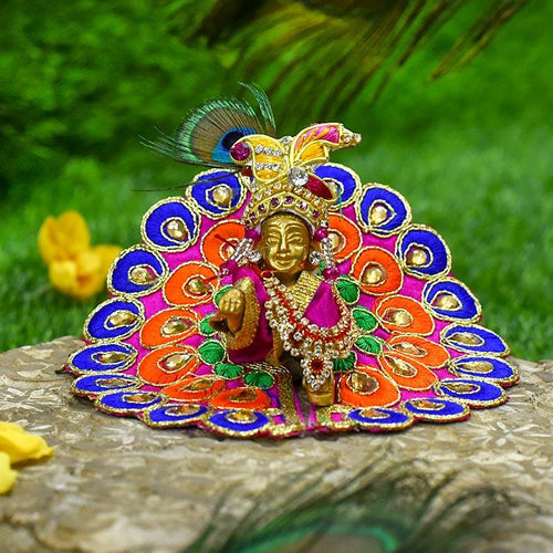 Peacock Style Laddu Gopal Dress