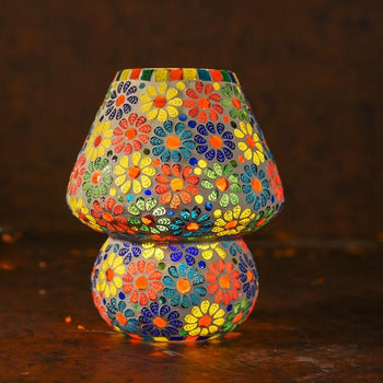 Vibrant Mosaic Table Lamp