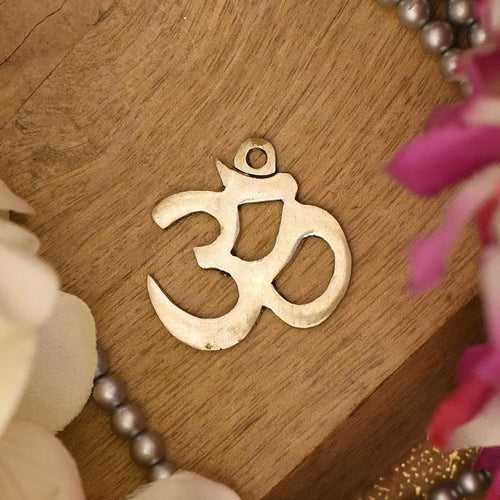 Antique German Silver Om Pendant