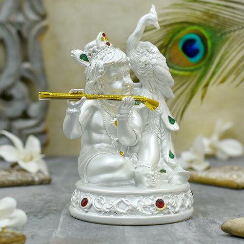 Flute Playing Krishna Idol/Murti