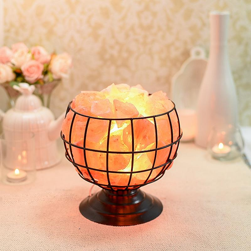 Iron Basket Bowl Himalayan Salt Lamp