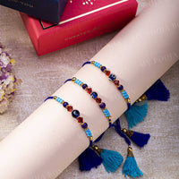 Evil Eye Bright Blue Protection Rakhi (Set of 3)