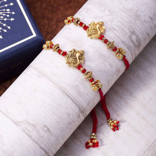 Auspicious Ganesha Rakhi (Set of 2)
