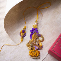 Sunshine Yellow & Lilac Bhaiya Bhabhi Rakhi (Set of 2)