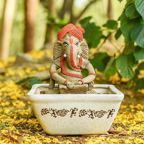 Eco Friendly Ganesha Playing The Harmonium