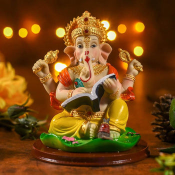 Shri Ganesha Idol With Holy Text