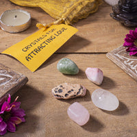 Attracting Love Crystal Healing Tumble Stone Set