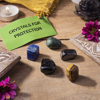 Protection Crystal Healing Tumble Stone Set
