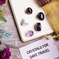 Safe Travel Crystal Healing Tumble Stone Set