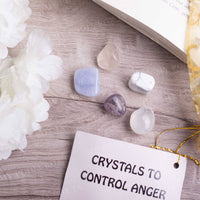 Anger Control Crystal Healing Tumble Stone Set