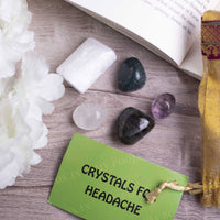 Headache Crystal Healing Tumble Stone Set