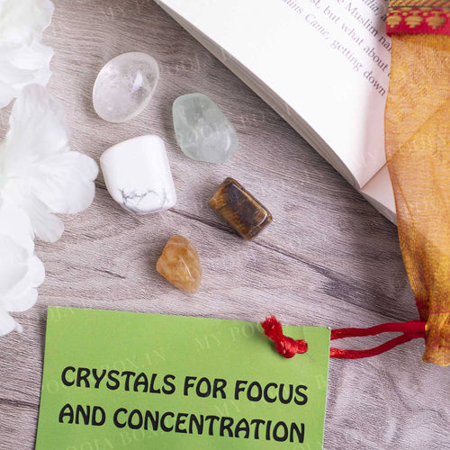 Focus & Concentration Crystal Healing Tumble Stone Set
