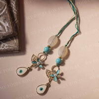 Evil Eye Mint Blue Lumba for Bhabhi/Sister (Set of 2)