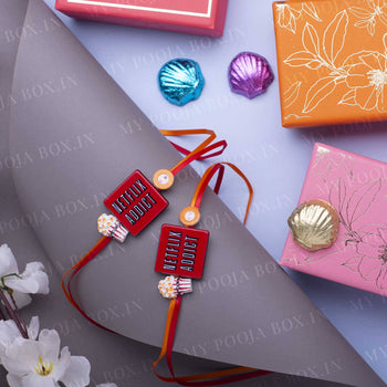 Quirky Netflix Addict Rakhi (Set of 2)