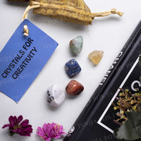 Creativity Crystal Healing Tumble Stone Set
