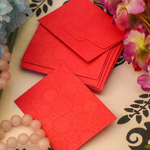 Pretty Little Shagun Envelope Pink with Golden Patches (Pack of 5)
