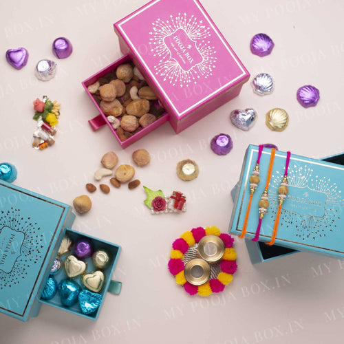 Modern Chic Rakhi Gift Box (Set of 3 Rakhis)