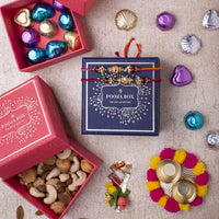 Elegant Gold & Green Mini Rakhi Box