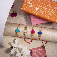 Trendy Stone Rakhi (Set of 4)