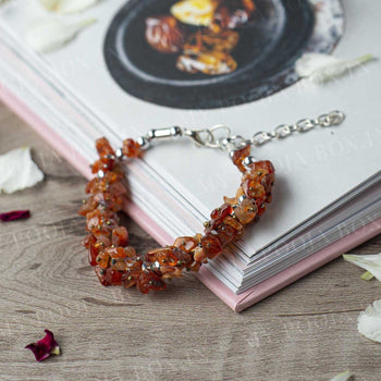 Carnelian Crystal Healing Natural Bracelet | Stability & Motivation