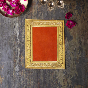 8x10 INCH PUJA AASAN (RED)