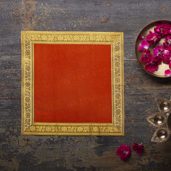 12x12 INCH PUJA AASAN (RED)