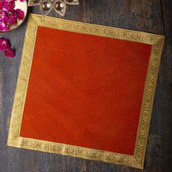 18X18 INCH PUJA AASAN (RED)