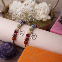 7 Chakra Blissful Rakhi with Star Charm (Set of 2)