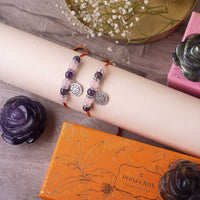 Rose Quartz & Amethyst Crystal Rakhi (Set of 2)