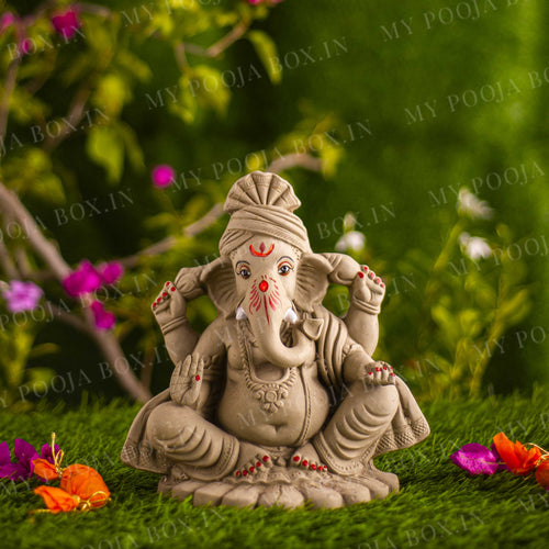 10INCH Pagdi Eco-Friendly Ganpati⎮Plant-A-Ganesha