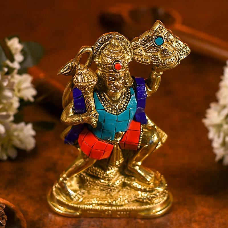 Auspicious Colourful Lord Hanuman Idol