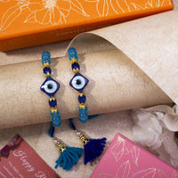 Turkish Evil Eye Diamond Shape Rakhi (Set of 2)