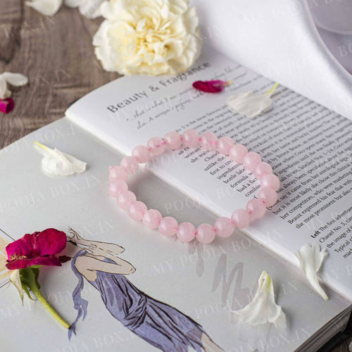 Rose Quartz Crystal Healing Bracelet⎮Love Stone