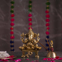 Traditional Brass Deepak Ganesha