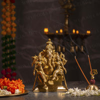 Antique Brass Vinayakaya with Rddhi Siddhi