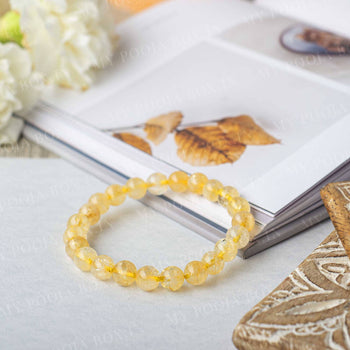 Citrine Crystal Healing Bracelet | Stone of Wealth & Success