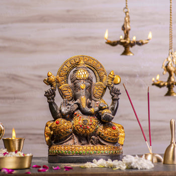 Chic Brass Ganesh Idol