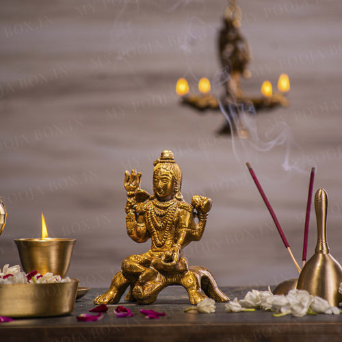 Auspicious Lord Shiva Brass Idol