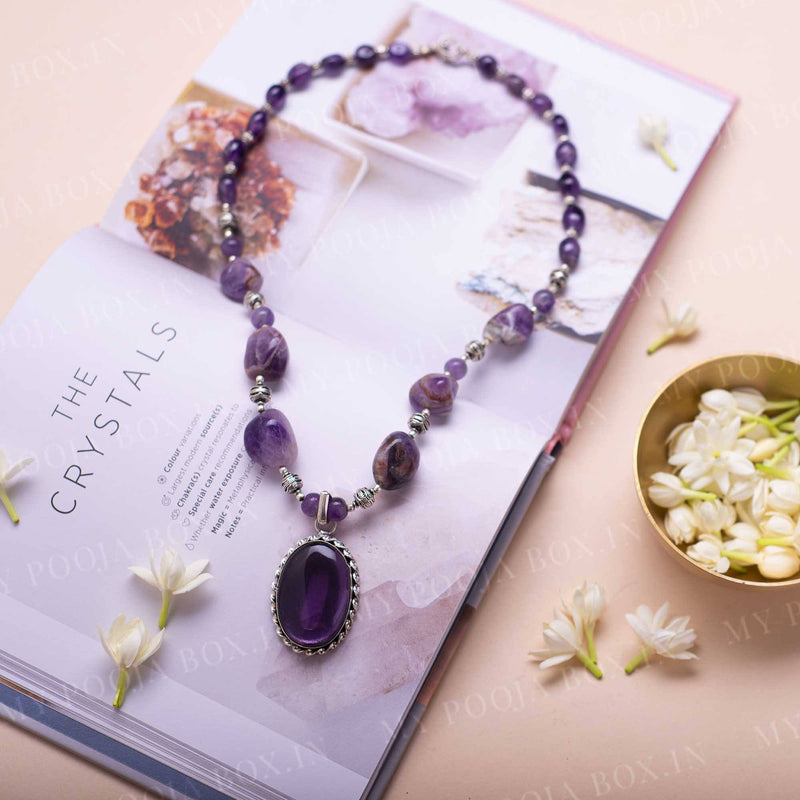 Amethyst Crystal Pendant Necklace