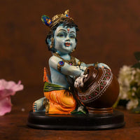 Beautiful Blue Bal Gopal With Brown Matki