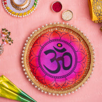 OM Colorful Pooja Thali 9""