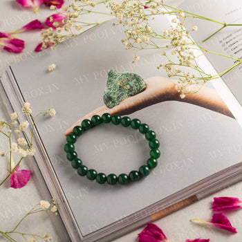 Green Aventurine Dark Bracelet (Good Luck Stone)
