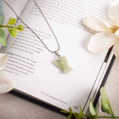Green Aventurine Angel Pendant