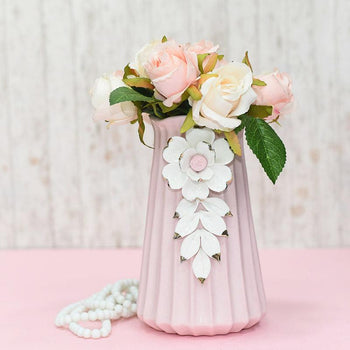 Pearl White Flower Vase