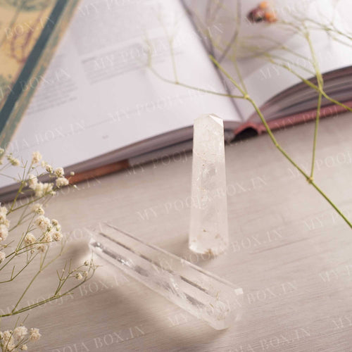 Clear Quartz Tower/Pencil (Set of 2)⎮The Universal Crystal